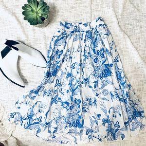 Zara midi skirt with pockets m medium